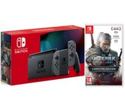 *SAVE over £20* NINTENDO Switch & the Witcher 3: Wild Hunt Bundle - Grey