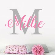 Cheap Custom Name Personalised Nursery Wall Decal Kids Business Only £6.49
