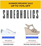 70% off SHOES - Shoeaholics Summer Shoe Sale