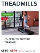 JTX SPRINT-3: ELECTRIC TREADMILL (Other Models Too)
