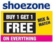 CHEAP! SHOEZONE Buy One Get One Free + EXTRA £5 OFF + FREE DELIVERY