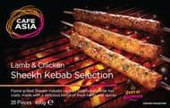 Cafe Asia Lamb & Chicken Sheekh Kebabs- 20
