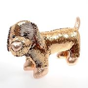 Kid Connection Gold Effect Swipe Sequin Dog Toy