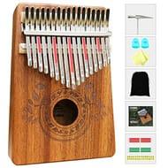 Kalimba 17 Keys Thumb Piano with Study Instruction and Tune Hammer