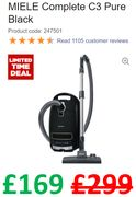 SAVE £130 - MIELE Complete C3 Pure Power Vacuum Cleaner