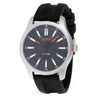 Boss Orange Dublin Men's Black Silicone Strap Watch