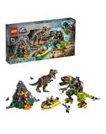 SAVE £20 + FREE DELIVERY. LEGO Jurassic World T-Rex vs Dino-Mech Battle - 75938