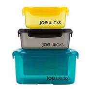 Joe Wicks Rectangular Container Set - 3 Piece