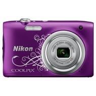 Nikon Coolpix A100 20MP 5x Zoom Compact Camera - Purple