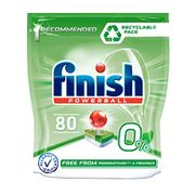 Finish 0% Dishwasher Tablets Preservatives and Fragrance Free, 80 Tablets