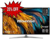 Hisense H65U7BUK 65-Inch 4K UHD HDR Smart ULED TV with Freeview Play