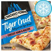 Chicago Town Tiger Crust Pizza : Cheesy Ham & Bacon / Double Pepperoni / Cheese