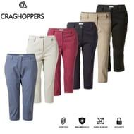 Craghoppers Womens Kiwi Pro Crops II Trousers Stretch Capri 3/4 Cropped