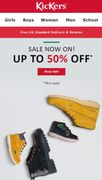Kickers Sale up to 50% off