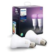 Philips Hue White & Colour Ambiance Smart Bulb 2 Pack LED E27 Edison Screw