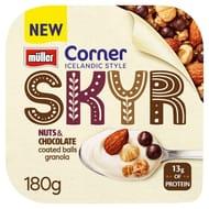 Muller Corner Skyr 180g (Raspberry, Banana or Chocolate)