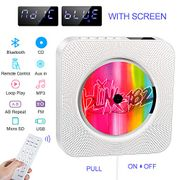 Portable CD Player,Built-in HIFI Speaker,Wall-Mounted Bluetooth