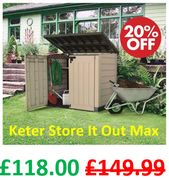 Keter Store It Out Max Storage Shed - SAVE £31.99 + FREE DELIVERY