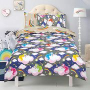 Kids 2 in 1 Quilt Duvet Cover and Pillowcase Bed Set Believe in Your Dreams