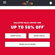 Hollister Sale - Up To 50%