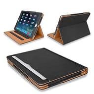 MOFRED Black & Tan Apple iPad Air Executive Leather Case