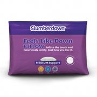 SLUMBERDOWN FEELS like down PILLOW Only £14.99