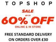 TOPSHOP SALE - up to 60% off + FREE DELIVERY DEAL