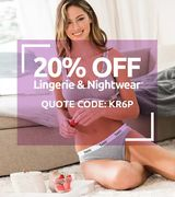 20% off Lingerie and Nightwear