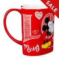 Disney Store Mickey and Minnie Heart-Shaped Mug
