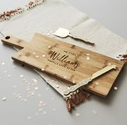 Wooden Personalised Wedding Chopping/Cheese Board