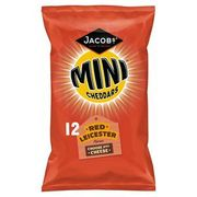 Best Price! Jacob's Mini Cheddars Red Leicester 12 Pack 300g
