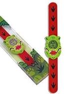 Children's T Rex Watch by Wild Watches. Silicone Snap-on Wrap around Strap