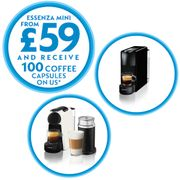 Get a Machine for £59 and Get 100 Free Capsules
