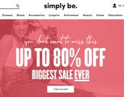 SALE UP TO 80% OFF - SIMPLY BE - PLUS SIZE & CURVE