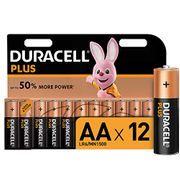 Duracell plus AA Alkaline Batteries [Pack of 12], 1.5 v LR06 MX1500