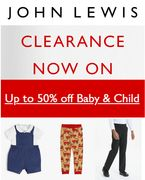 JOHN LEWIS CLEARANCE - Baby & Child - up to 50% OFF