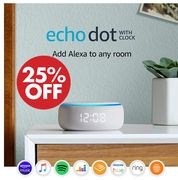 SAVE £15 - Echo Dot with Clock and Alexa