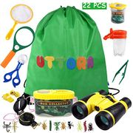 UTTORA Outdoor Explorer Kit, Kids Binoculars Set with Compass