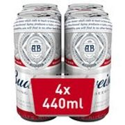Budweiser 4 X 400ml Beer Cans & Get 4 FREE Beef Quarter Pounders