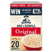 Quaker Oat so Simple Original Porridge 20 Pack