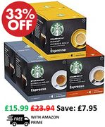 STARBUCKS Nescafe Dolce Gusto Variety Pack Black Cup - 6 X 12