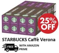 AMAZON BESTSELLER - 80 STARBUCKS Caffe Verona Dark Roast Coffee Capsules