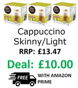 NESCAFE Dolce Gusto Cappuccino Skinny/Light Coffee Pods 3 X 16
