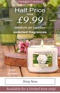 Yankee Candle Medium Jars Half Price