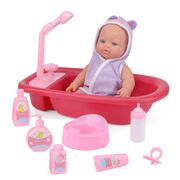 Baby Love Ella Doll Bath Time Playset
