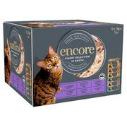 Encore Cat Food Both The Fish & Mixed Selection *12 Tins 70g Each