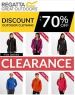 REGATTA CLEARANCE - up to 70% off Jackets, Fleece, Trousers, Footwear