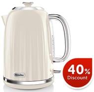 SAVE £18 - Breville Impressions Electric Kettle, 1.7 Litre, Fast Boil, Cream