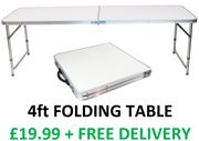 Oypla 4ft Folding Table - FREE DELIVERY