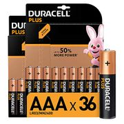 Duracell plus AAA Alkaline Batteries [Pack of 36], 1.5 v LR03 MN2400